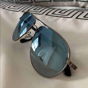 Tom Ford Marko Shiny Light Blue Aviator Sunglasses